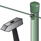 Uchytenie napínacieho drôtu na stĺpik