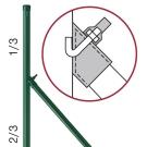 Uchytenie vzpier na hákovú skrutku